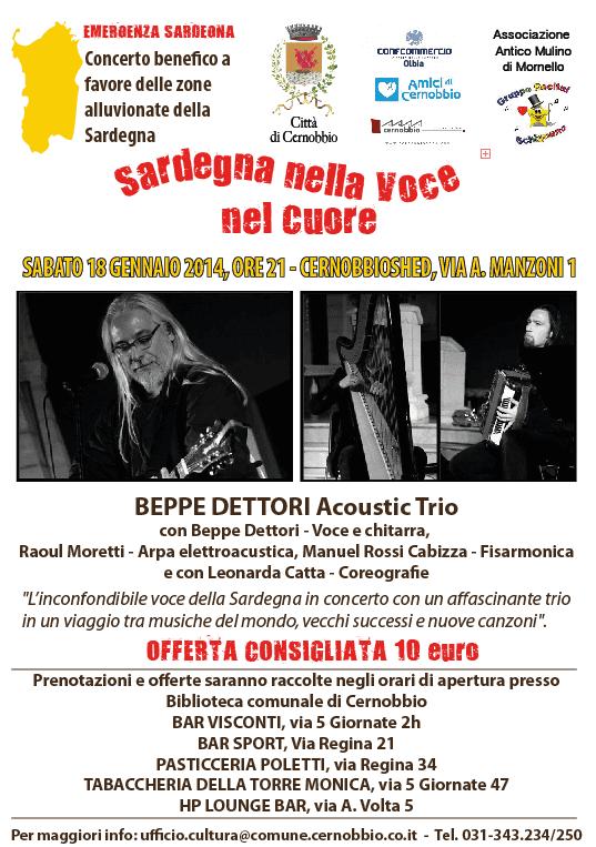 Cernobbio Sardegna nella voce e nel cuore