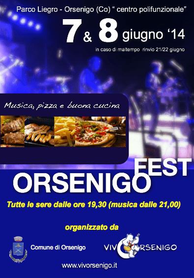 OrsenigoFest 2014: musica e cucina