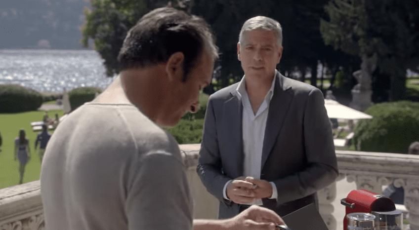 George Clooney: il nuovo spot a Villa Erba