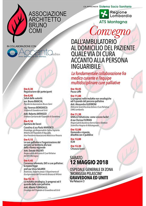 Giornata di sensibilizzazione sulle cure palliative sabato 12 maggio 2018