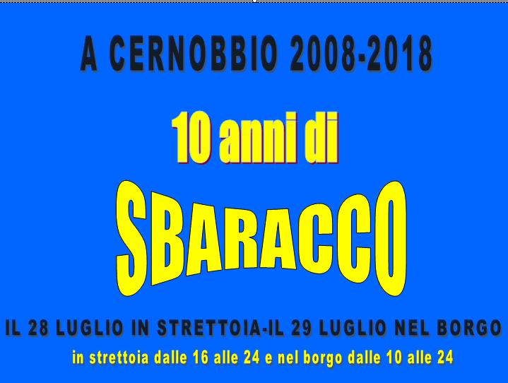 Cernobbio: il 28/29 luglio torna Lo Sbaracco