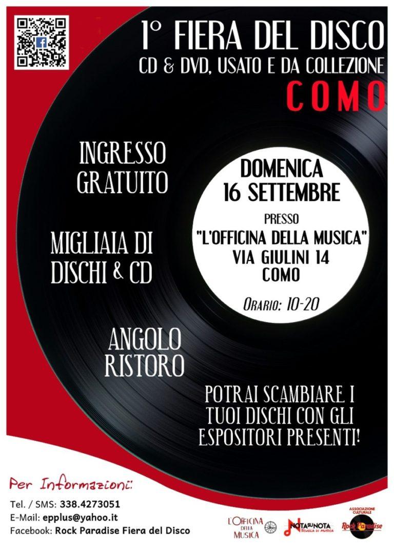 Como: prima edizione della Fiera del Disco di Como