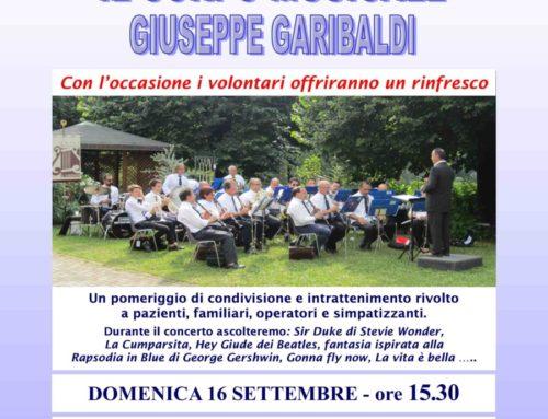Como: all'Hospice San Martino di Como concerto della Banda musicale Giuseppe Garibaldi di San Fermo