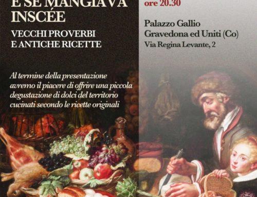 "Gravedona: presentazione libro ""Se diséva e se mangiava inscée"""