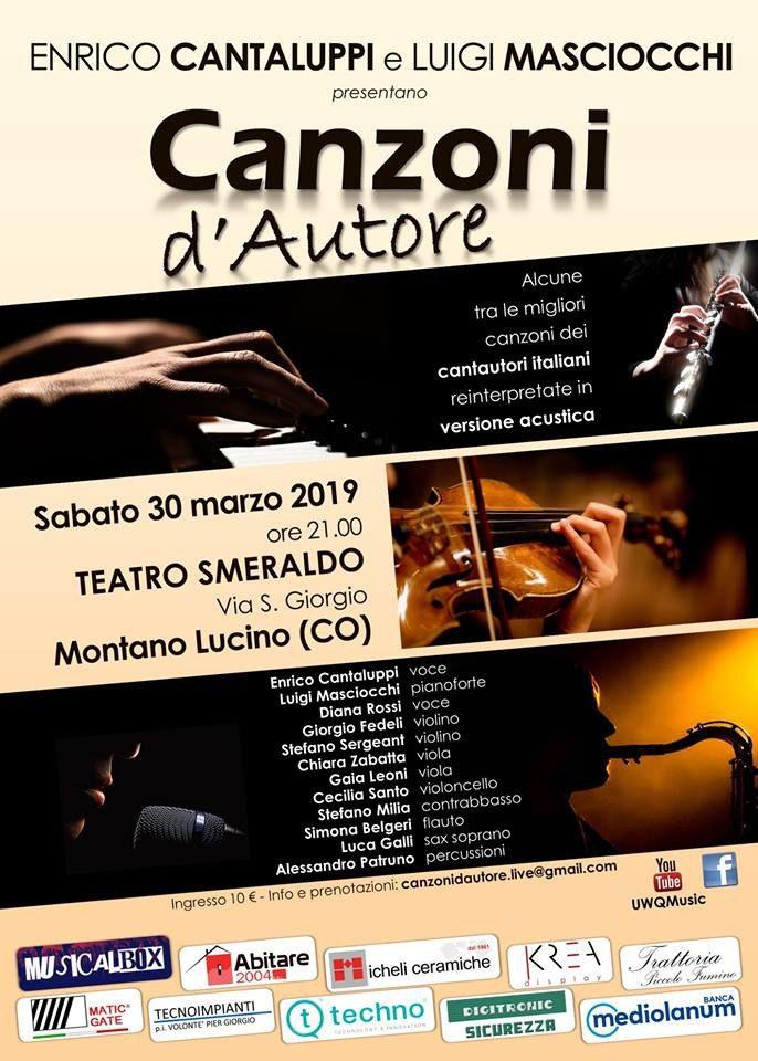 """Montano Lucino: concerto """"Canzoni d'Autore"""""""