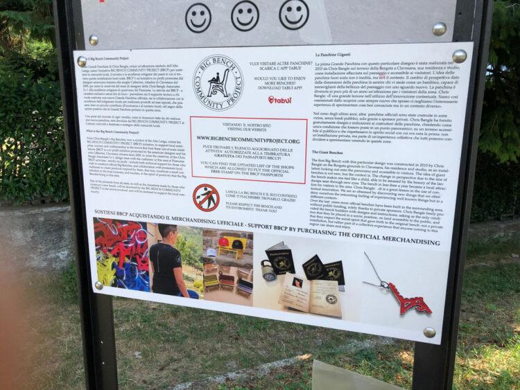 panchina gigante lago di Como Bellagio Civenna 10