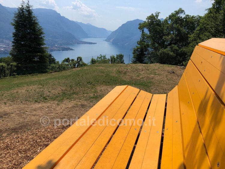 panchina gigante lago di Como Bellagio Civenna 3