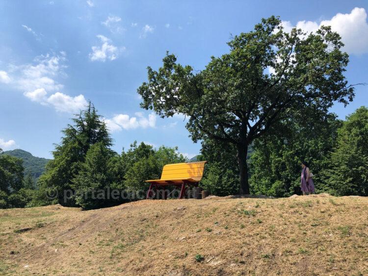 panchina gigante lago di Como Bellagio Civenna 5
