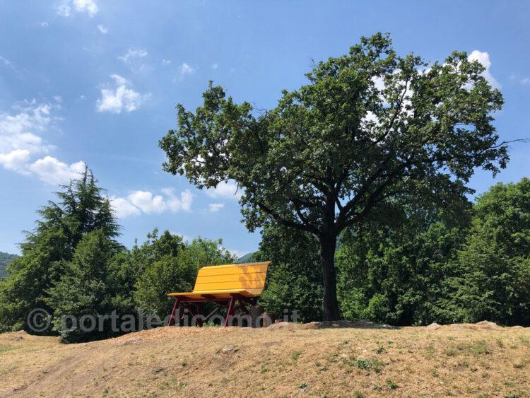 panchina gigante lago di Como Bellagio Civenna 6
