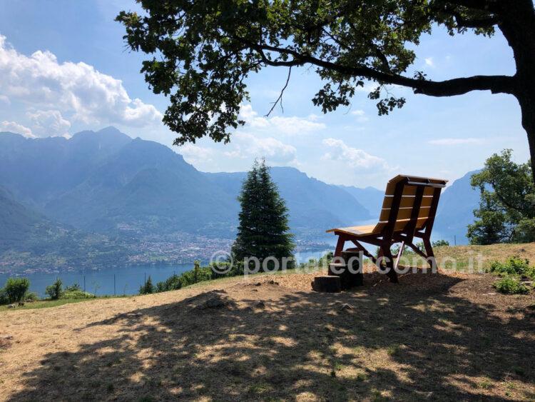 panchina gigante lago di Como Bellagio Civenna 9