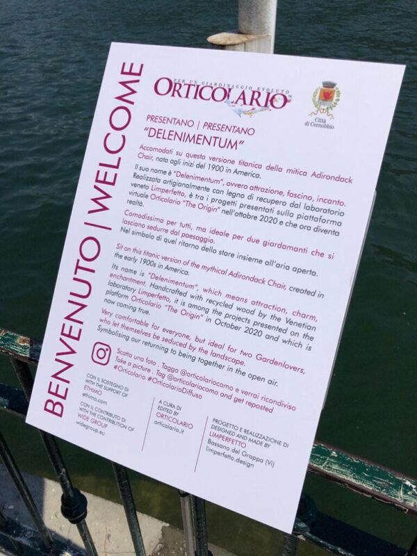 Delenimentum panchina rossa Cernobbio Como Orticolario riva scaled