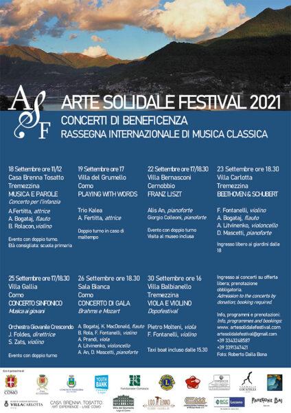 Arte Solidale festival cocerti 2021