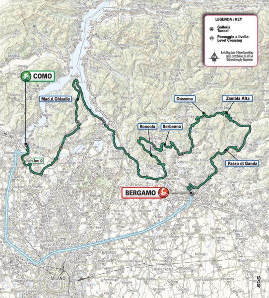 Percorso Giro ciclistico Lombardia 21